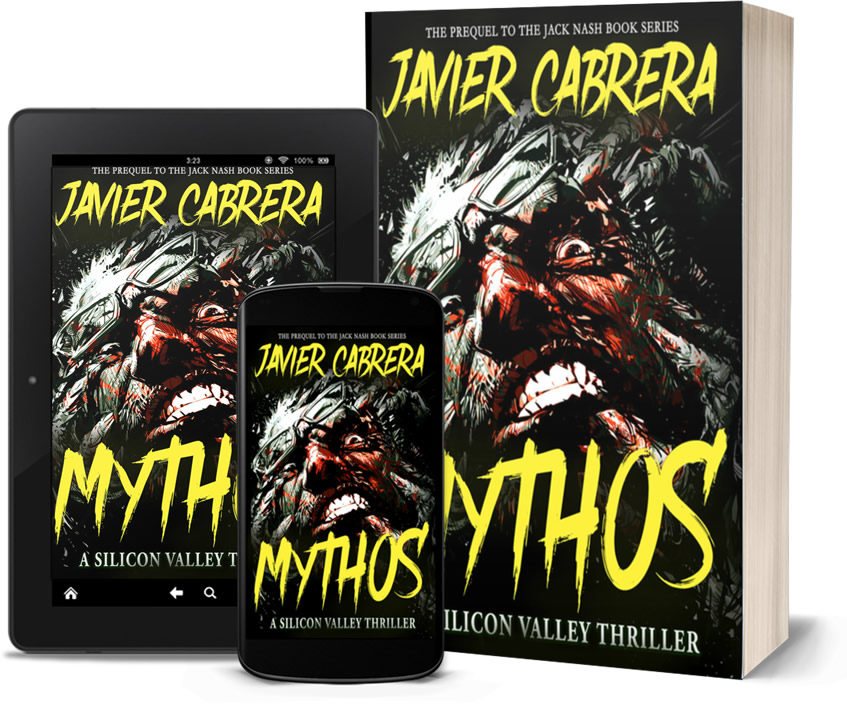 mythos: a silicon valley thriller by javier cabrera book cover